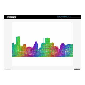 Houston skyline skin for acer chromebook