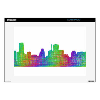 Houston skyline skins for laptops