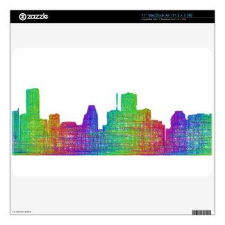 Houston skyline skins for MacBook