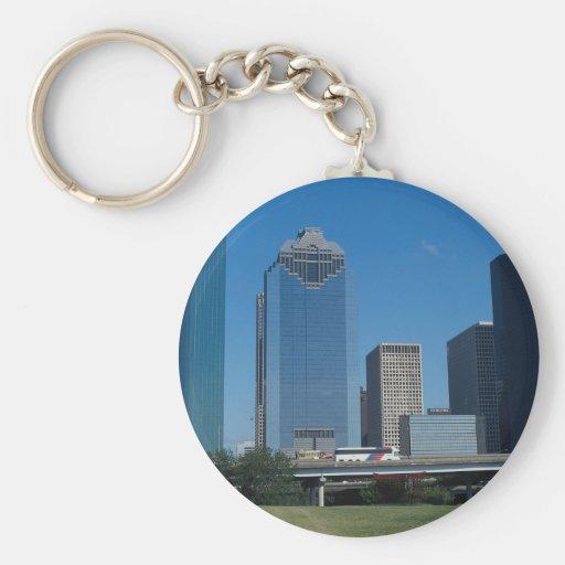 Houston skyline, Texas, U.S.A. Keychains