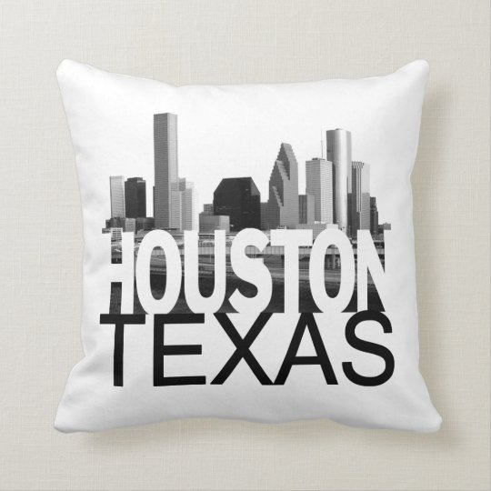Houston Skyline Throw Pillow