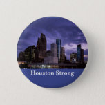 Houston Strong Downtown Skyline Button