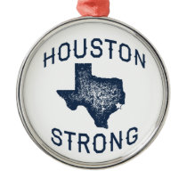 Houston Strong - Harvey Metal Ornament