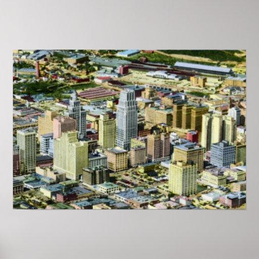 Houston Tejas Birdseye Impresiones