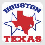 Houston, Tejas Pegatina Cuadrada