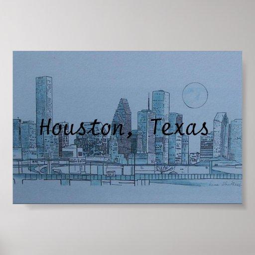 Houston Tejas Póster