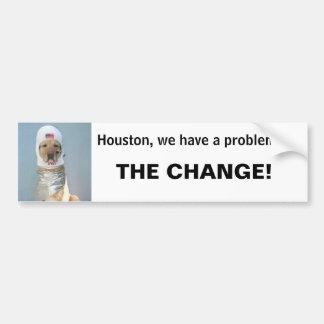 Houston, tenemos un problema… pegatina para auto