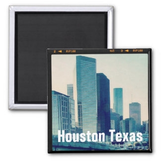 Houston Texas Architecture (Magnet) 2 Inch Square Magnet