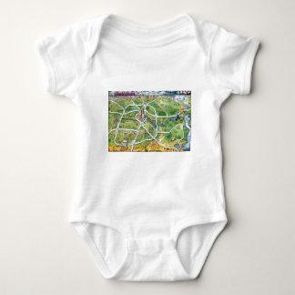 Houston Texas Cartoon Map Baby Bodysuit