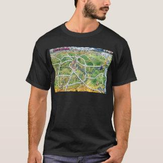 Houston Texas Cartoon Map T-Shirt
