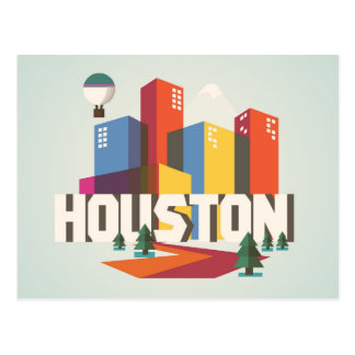Houston, Texas | Cityscape Design Postcard
