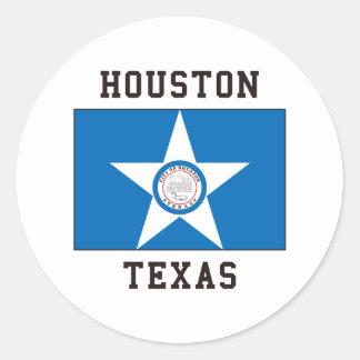 Houston Texas Classic Round Sticker