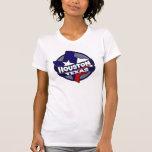 Houston Texas flag burst tshirt