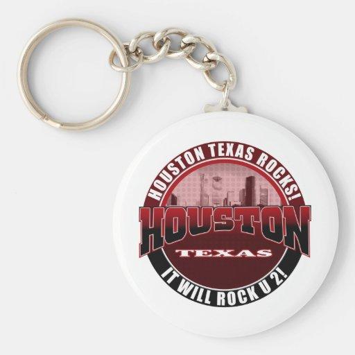 Houston Texas - Houston Rocks! It Will Rock U 2 Keychain