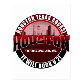 Houston Texas - Houston Rocks! It Will Rock U 2 Postcard