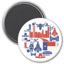 Houston Texas Icons Magnet