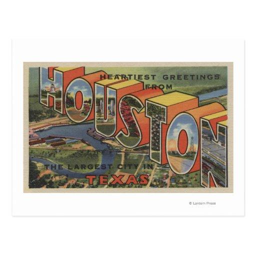 Houston, Texas - Large Letter Scenes 2 Postcard