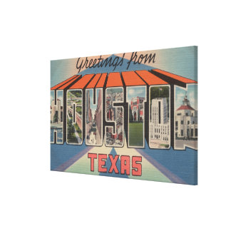 Houston Texas - Large Letter Scenes 3 Stretched Canvas Print