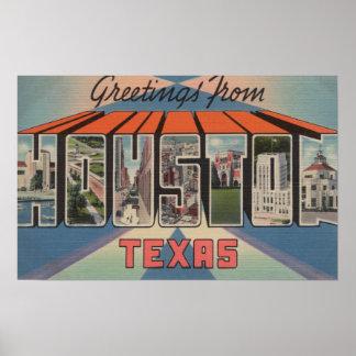 Houston, Texas - Large Letter Scenes 3 Poster