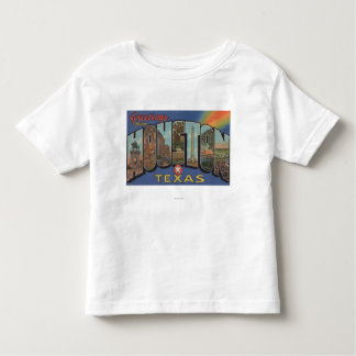 Houston, Texas - Large Letter Scenes 3 Toddler T-shirt