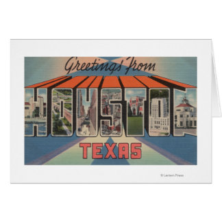 Houston Texas - Large Letter Scenes Cards