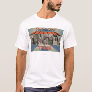 Houston, Texas - Large Letter Scenes T-Shirt