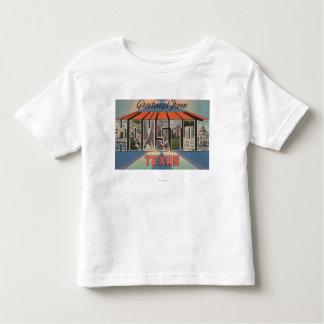 Houston, Texas - Large Letter Scenes Toddler T-shirt