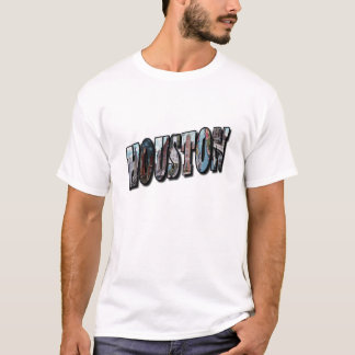 HOUSTON Texas Large Pictorial Letters Shirt