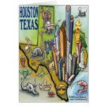 Houston TEXAS Map Card