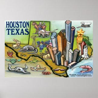 Houston TEXAS Map Poster