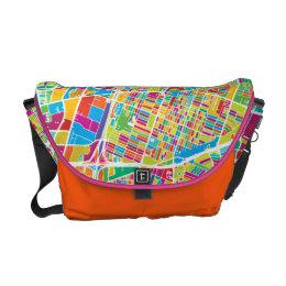 Houston, Texas | Neon Map Messenger Bag