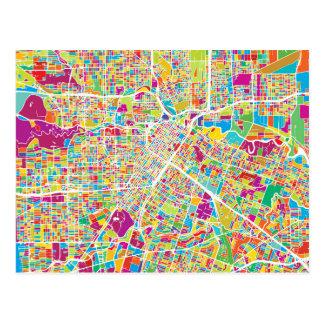 Houston, Texas | Neon Map Postcard