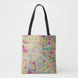 Houston, Texas | Neon Map Tote Bag