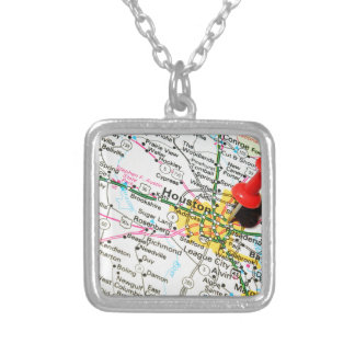 Houston, Texas Silver Plated Necklace