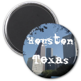Houston Texas Skyline 2 Inch Round Magnet