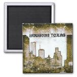 Houston Texas Skyline Art (Magnet) 2 Inch Square Magnet