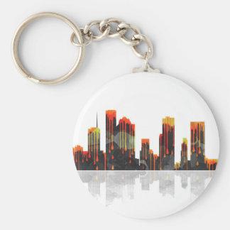 Houston Texas Skyline Basic Round Button Keychain