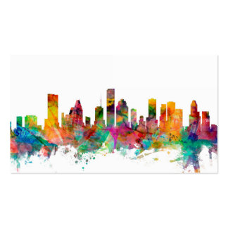 Houston Texas Skyline Double-Sided Standard Business Cards (Pack Of 100)