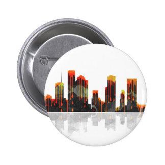 Houston Texas Skyline 2 Inch Round Button