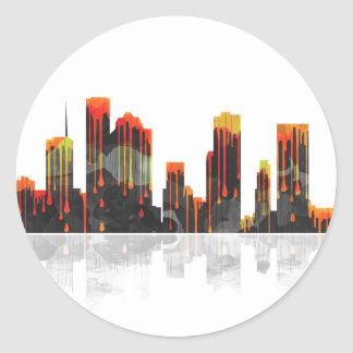 Houston Texas Skyline Classic Round Sticker