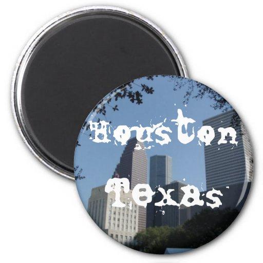 Houston Texas Skyline Fridge Magnets