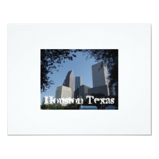 Houston Texas Skyline 4.25x5.5 Paper Invitation Card