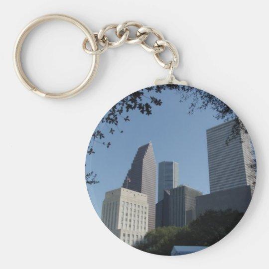 Houston Texas Skyline Keychain