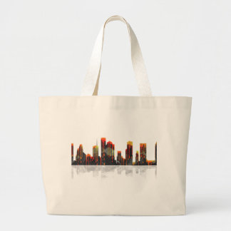 Houston Texas Skyline Large Tote Bag