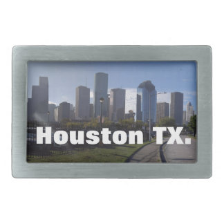 Houston Texas Skyline (Panoramic) Belt Buckle