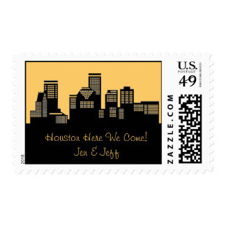 Houston Texas Skyline Postage Stamp