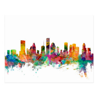 Houston Texas Skyline Postcard
