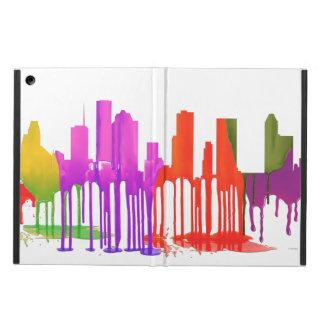 HOUSTON TEXAS SKYLINE PUDDLES - COVER FOR iPad AIR