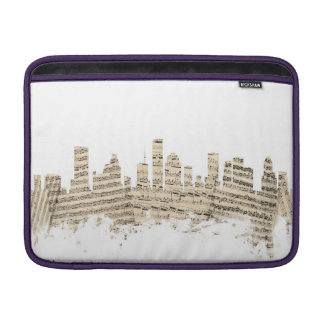 Houston Texas Skyline Sheet Music Cityscape Sleeves For MacBook Air