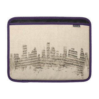 Houston Texas Skyline Sheet Music Cityscape MacBook Air Sleeve
